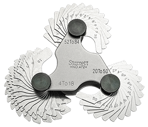 View the 472Starrett 472 Screw Pitch Gage