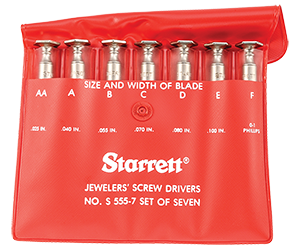 View the S555Z-7Starrett S555Z-7 Screwdriver Set
